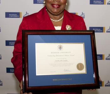 Carrole Guntley with Ryerson Award